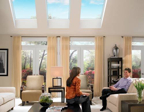 Skylights in Living Room at Home